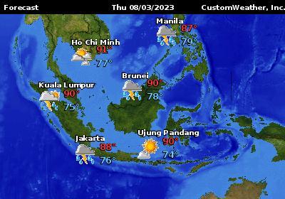 Bora Bora French Polynesia Forecast Maps